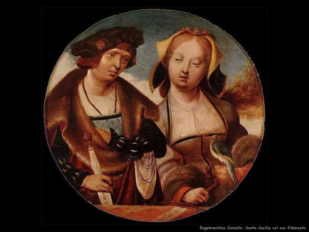 engebrechtsz cornelis Santa Cecilia e il suo fidanzato