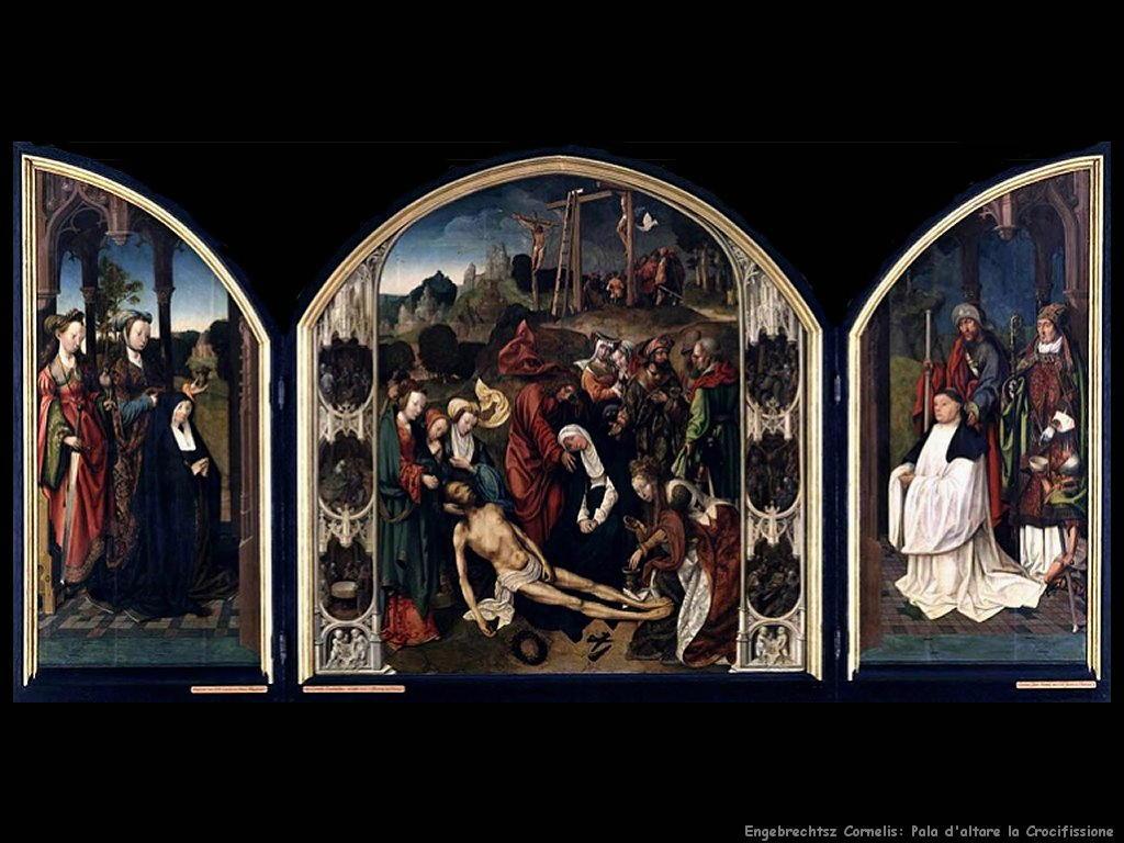 engebrechtsz cornelis Pala d'altare della Crocifissione