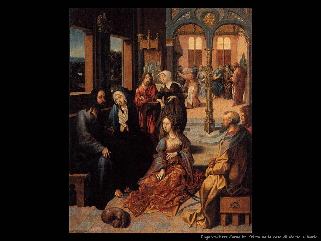 engebrechtsz cornelis Cristo nella casa di Marta e Maria