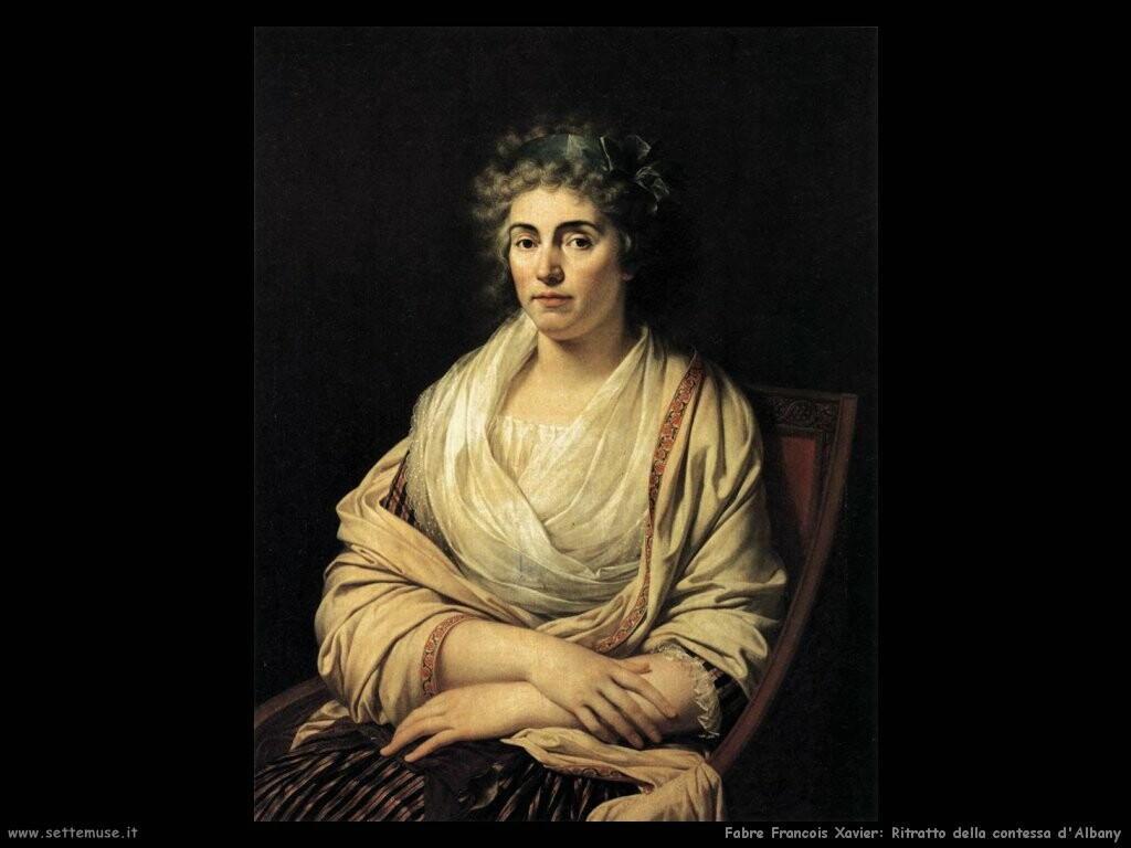 fabre francois xavier Ritratto della contessa d'Albania