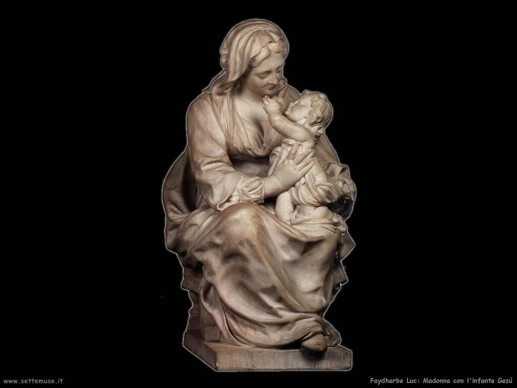 faydherbe luc Madonna con Gesù infante