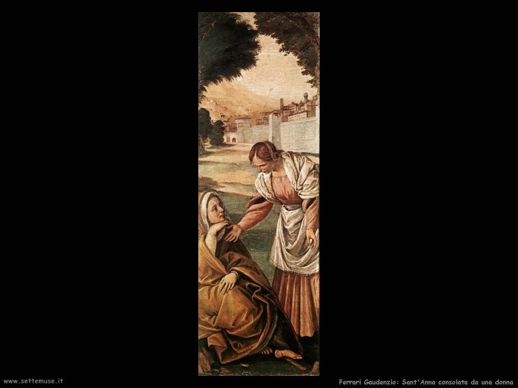 ferrari gaudenzio Sant'Anna consolata da una donna