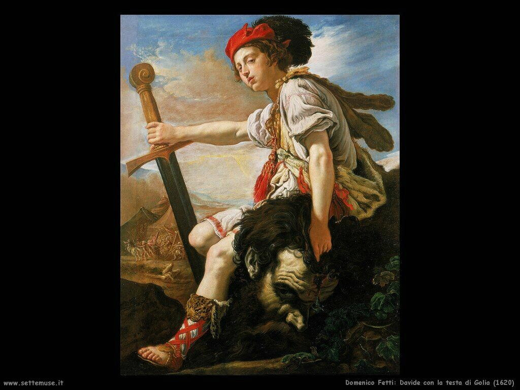 domenico fetti Davide con la testa di Golia (1620)