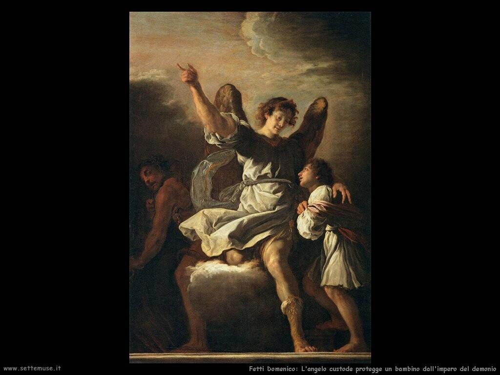 fetti domenico L'angelo custode protegge un bambino dall'impero del demonio