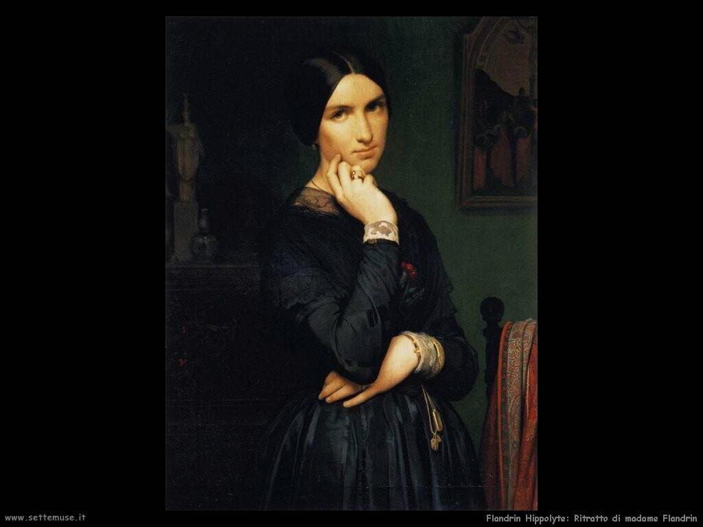 flandrin hippolyte Ritratto di madame Flandrin