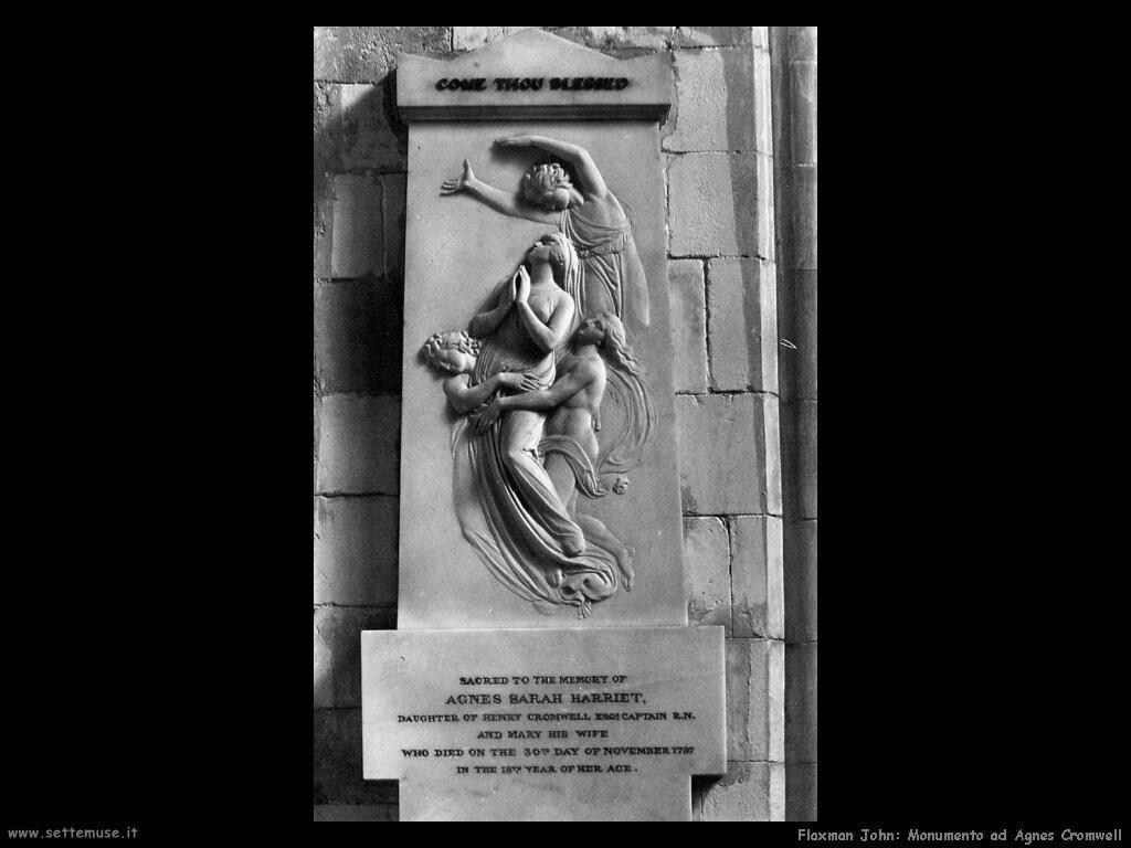 flaxman john Monumento ad Agnes Cromwell