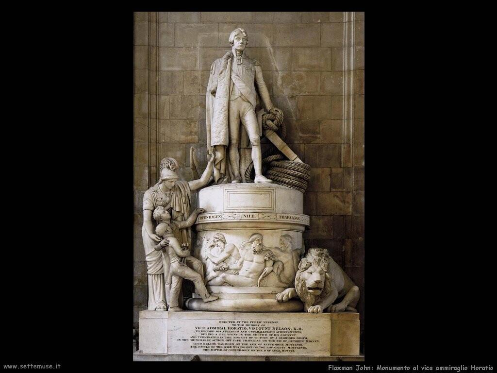 flaxman john Monumento al vice ammiraglio Horatio