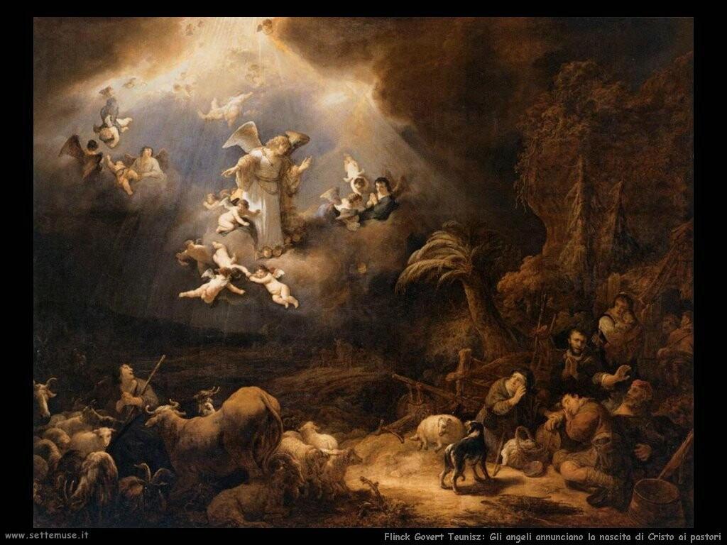 flinck govert teunisz Gli angeli annunciano la nascita di Cristo ai pastori