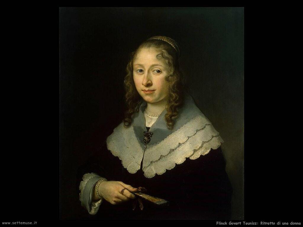 flinck govert teunisz Ritratto di donna