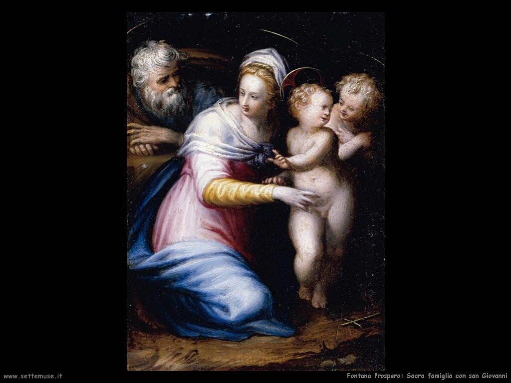 fontana prospero Sacra famiglia con san Giovanni