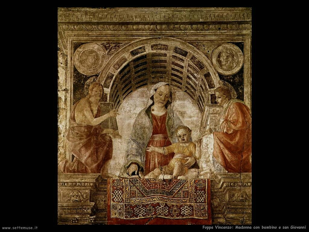 foppa vincenzo Madonna con bambino e san Giovanni