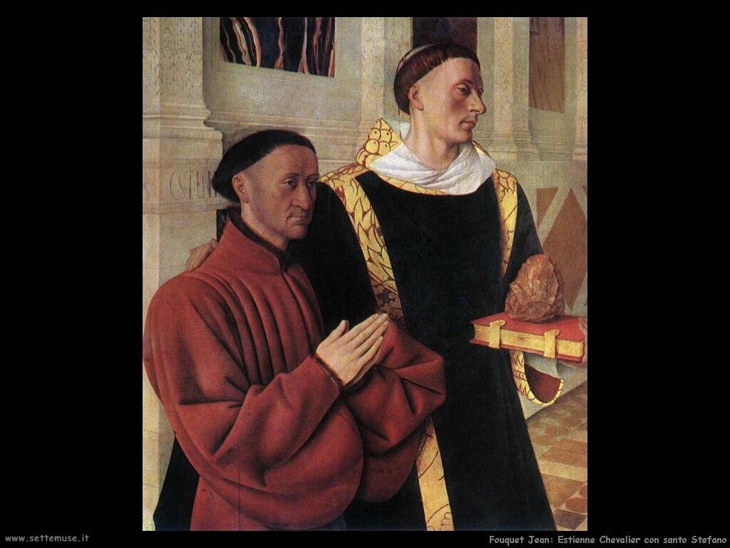 fouquet jean Estienne Chevalier con santo Stefano