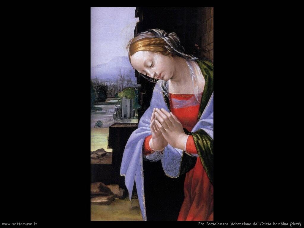 fra bartolomeo Adorazione del Cristo (dett)