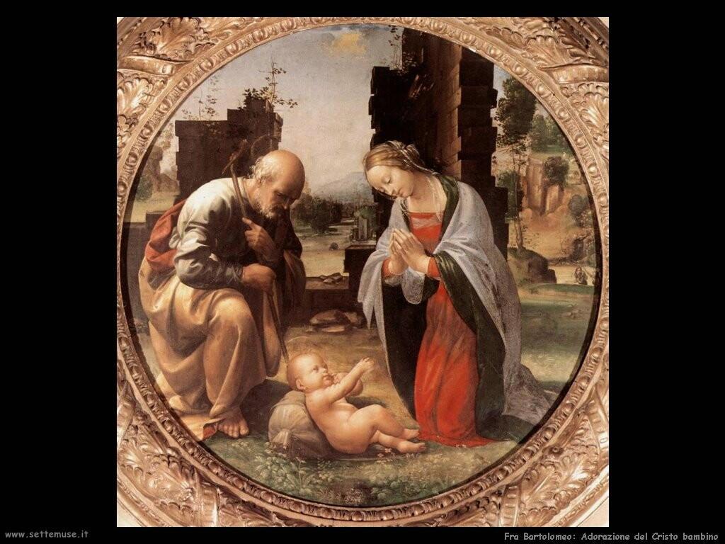 fra bartolomeo   Adorazione del Cristo bambino