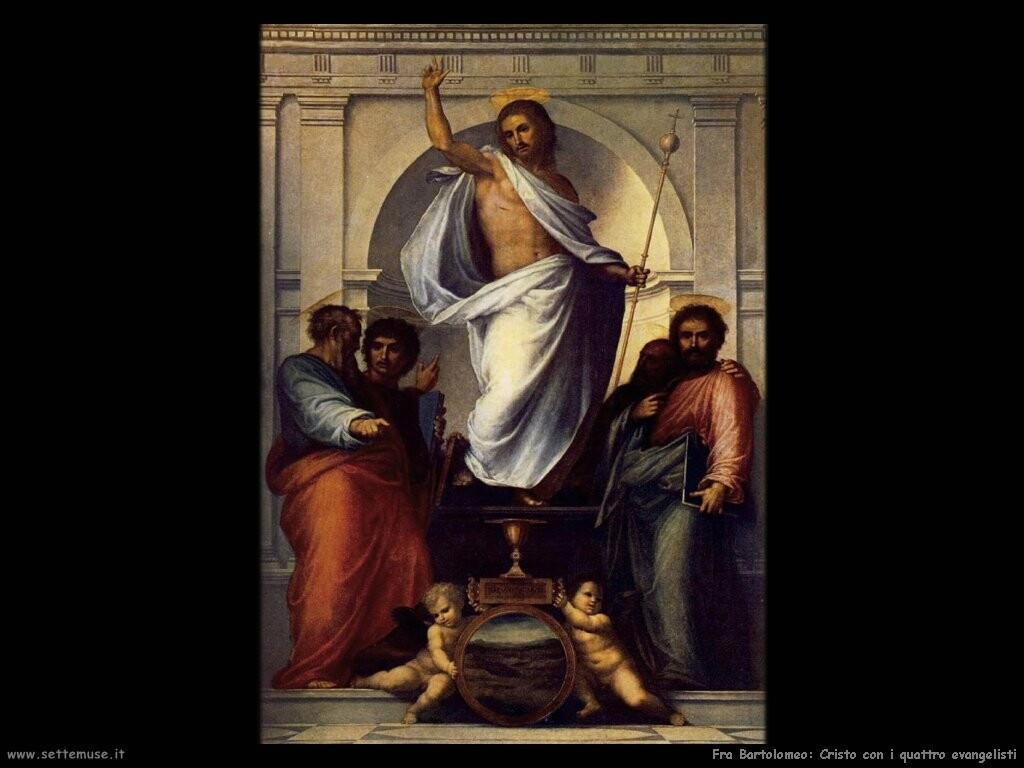 fra bartolomeo Cristo con quattro evangelisti