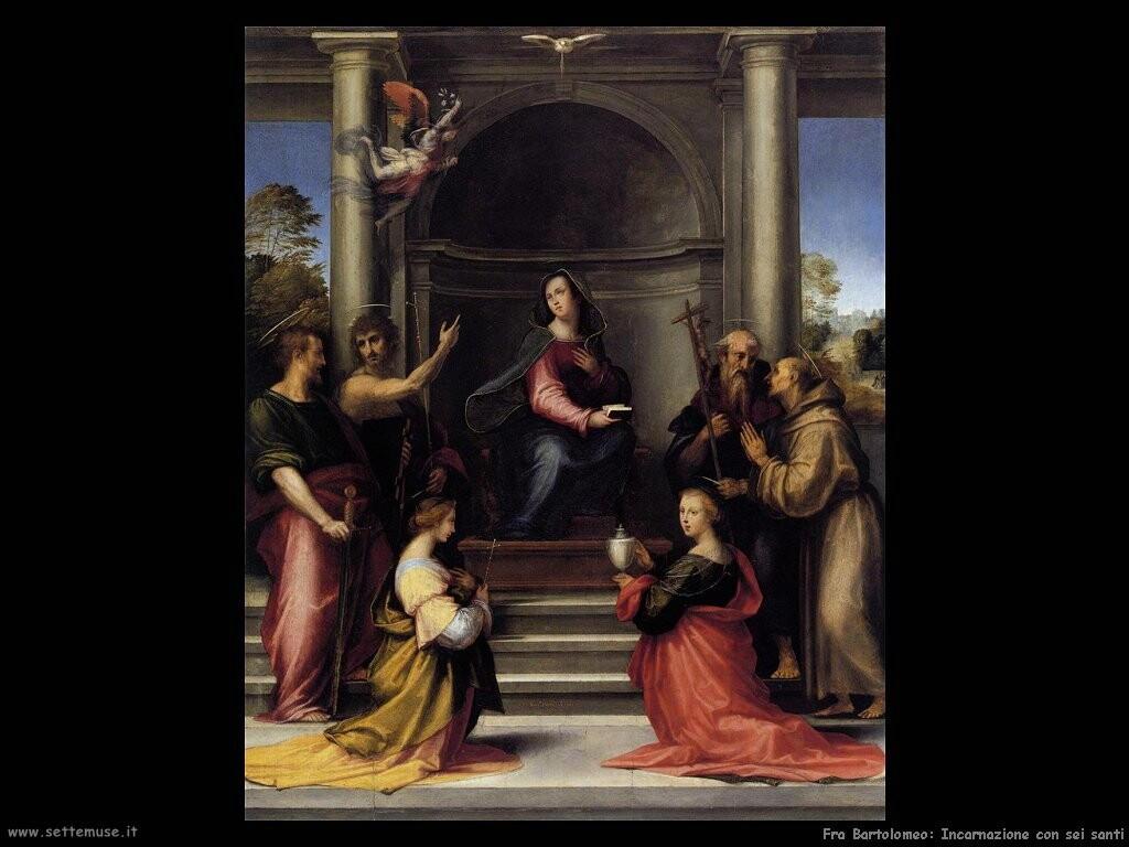 fra bartolomeo  Incarnazione con quattro santi