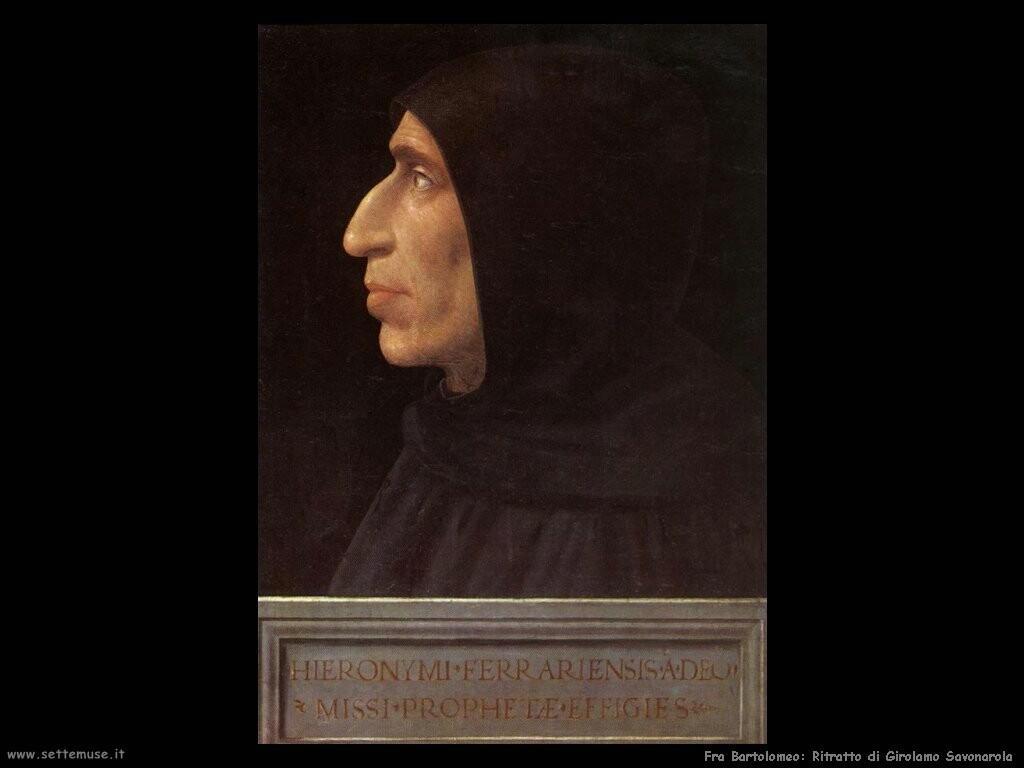 fra bartolomeo Ritratto di Girolamo Savonarola