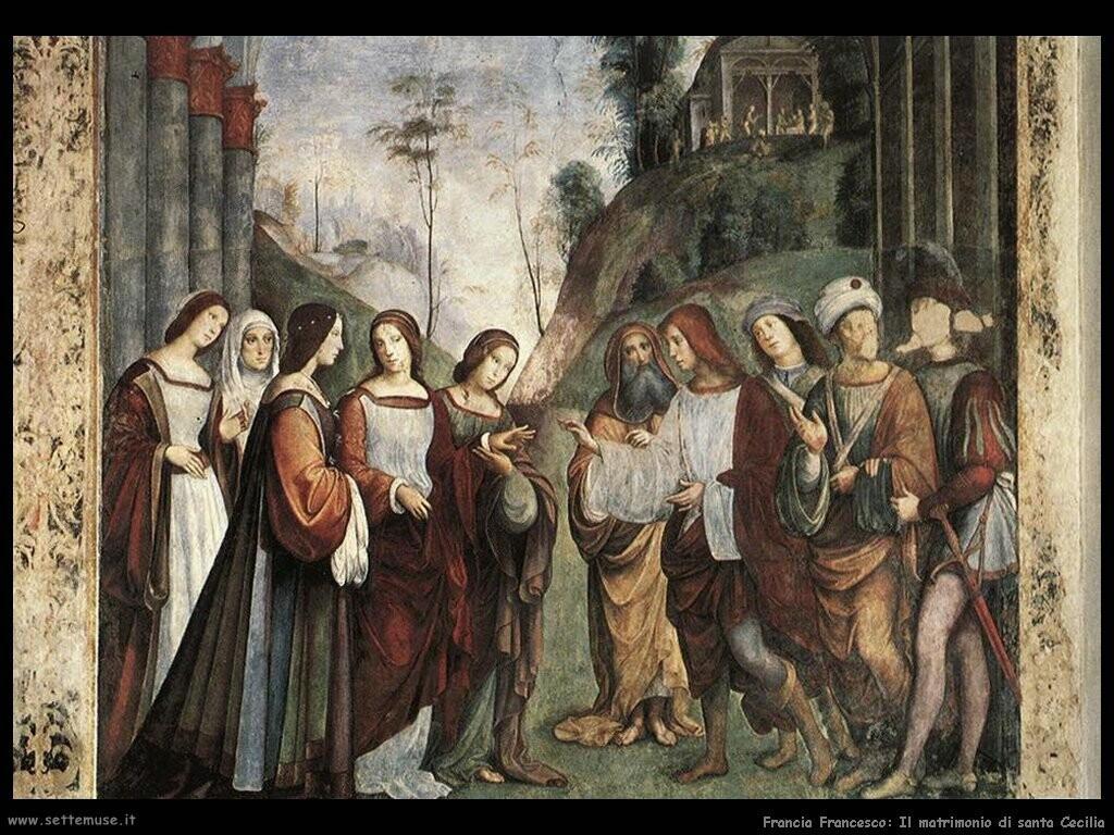 francia francesco Matrimonio di santa Cecilia