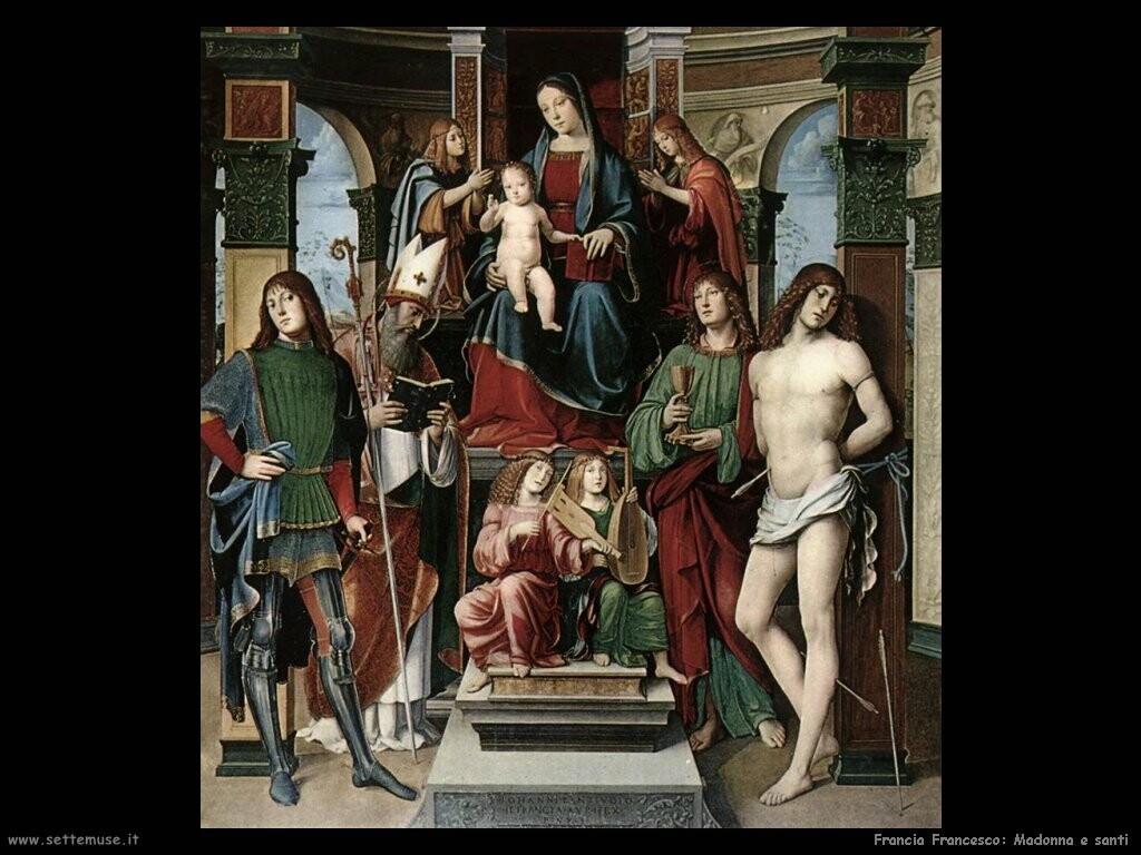 francia francesco Madonna e santi