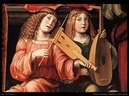 francia francesco  Madonna e santi (dett)