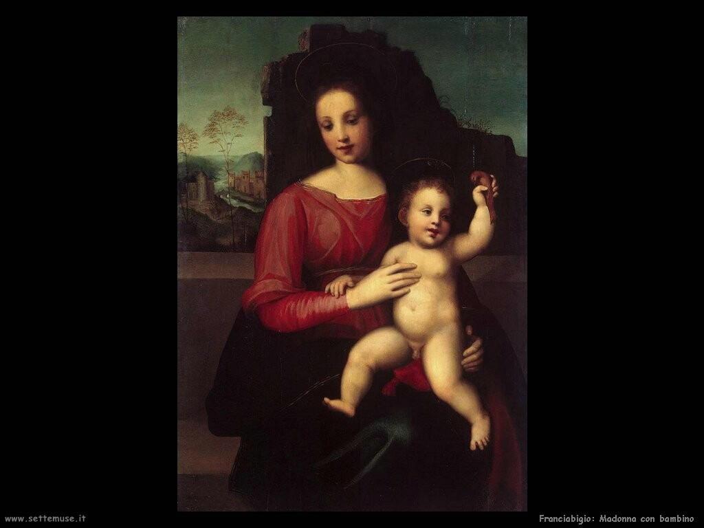 franciabigio Madonna e bambino