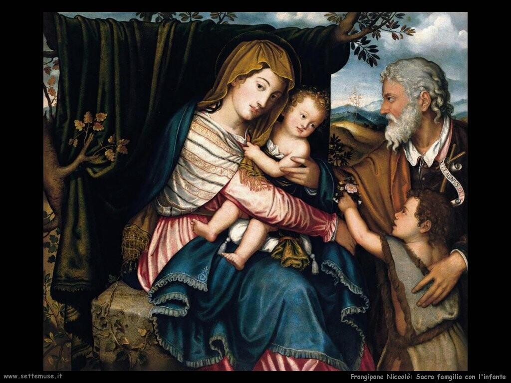 frangipane niccolo Sacra famiglia con san Giovanni