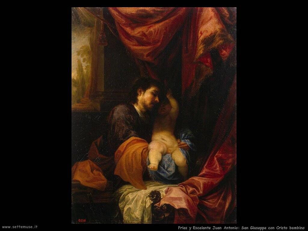 frias y escalante juan antonio San Giuseppe a Cristo bambino