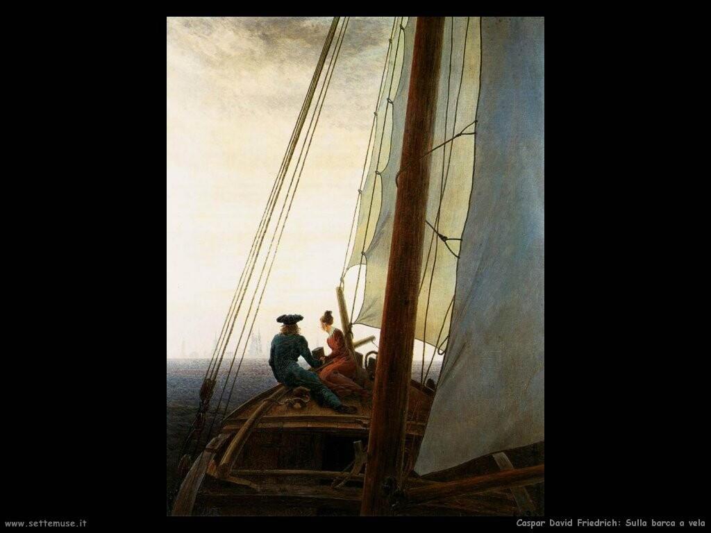 caspar david friedrich  Sulla barca a vela