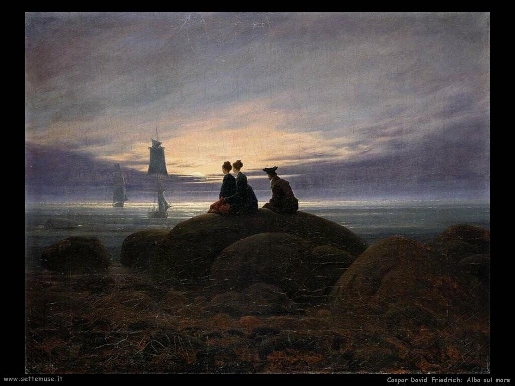 caspar david friedrich La luna sorge dal mare