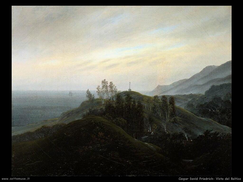 caspar david friedrich Vista del Baltico