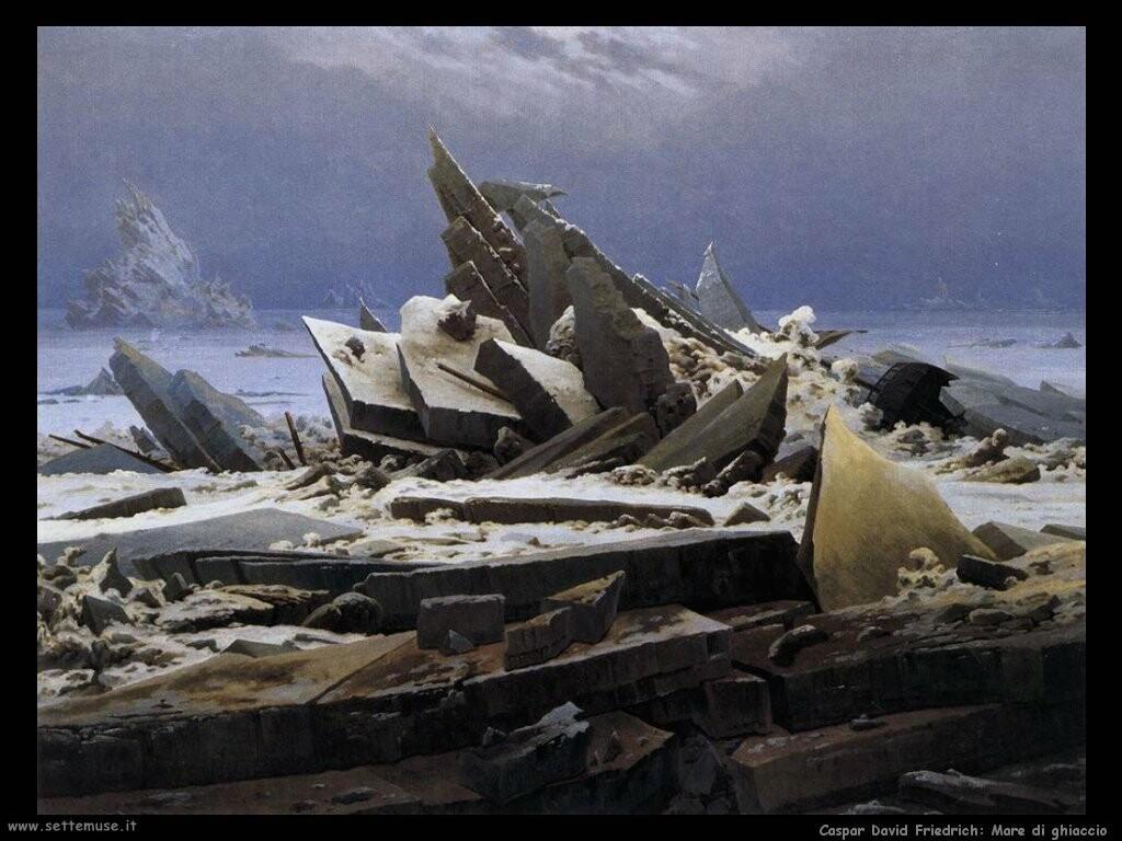 caspar david friedrich Mare di ghiaccio