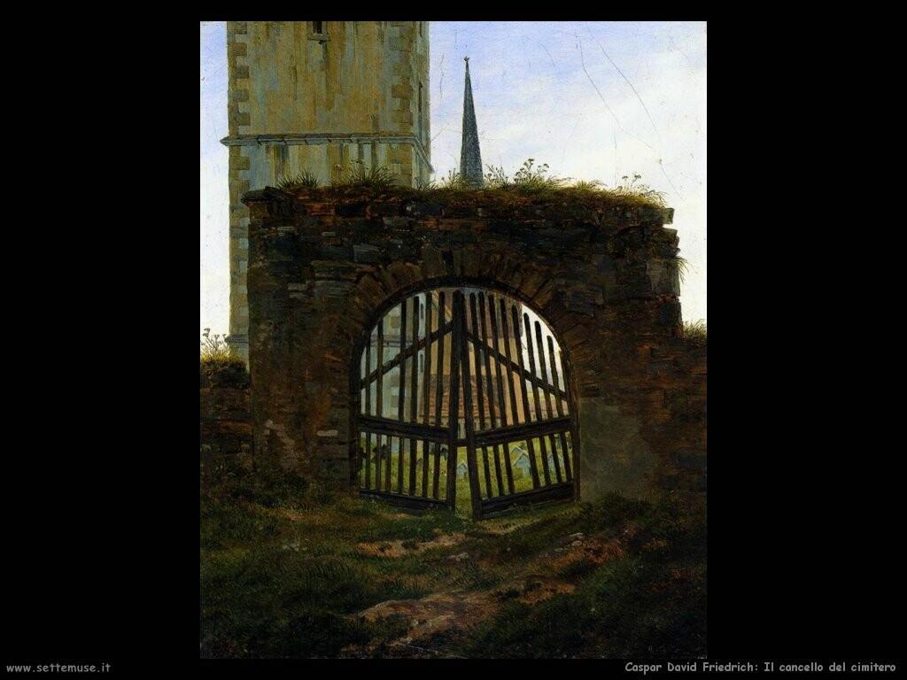 caspar david friedrich  Cancello del cimitero