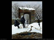 caspar david friedrich Cimitero nella neve