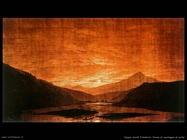 caspar david friedrich Fiume di montagna di notte