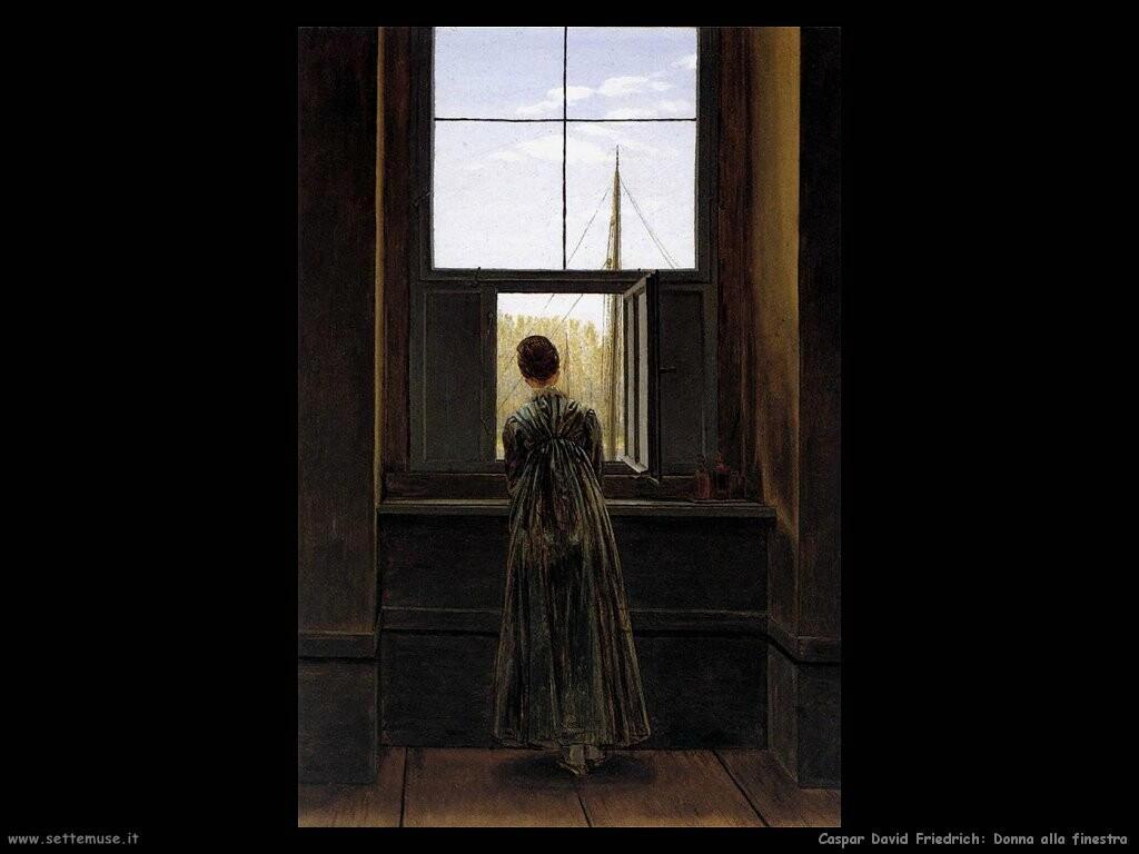 caspar david friedrich Donna alla finestra