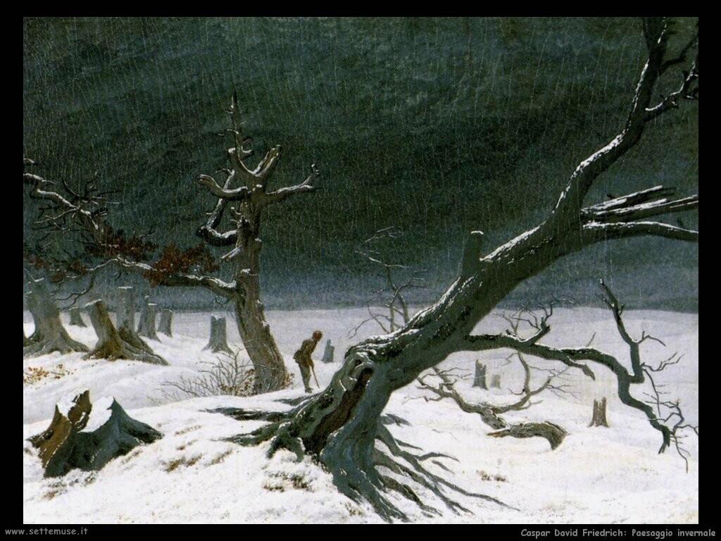 caspar david friedrich Paesaggio invernale
