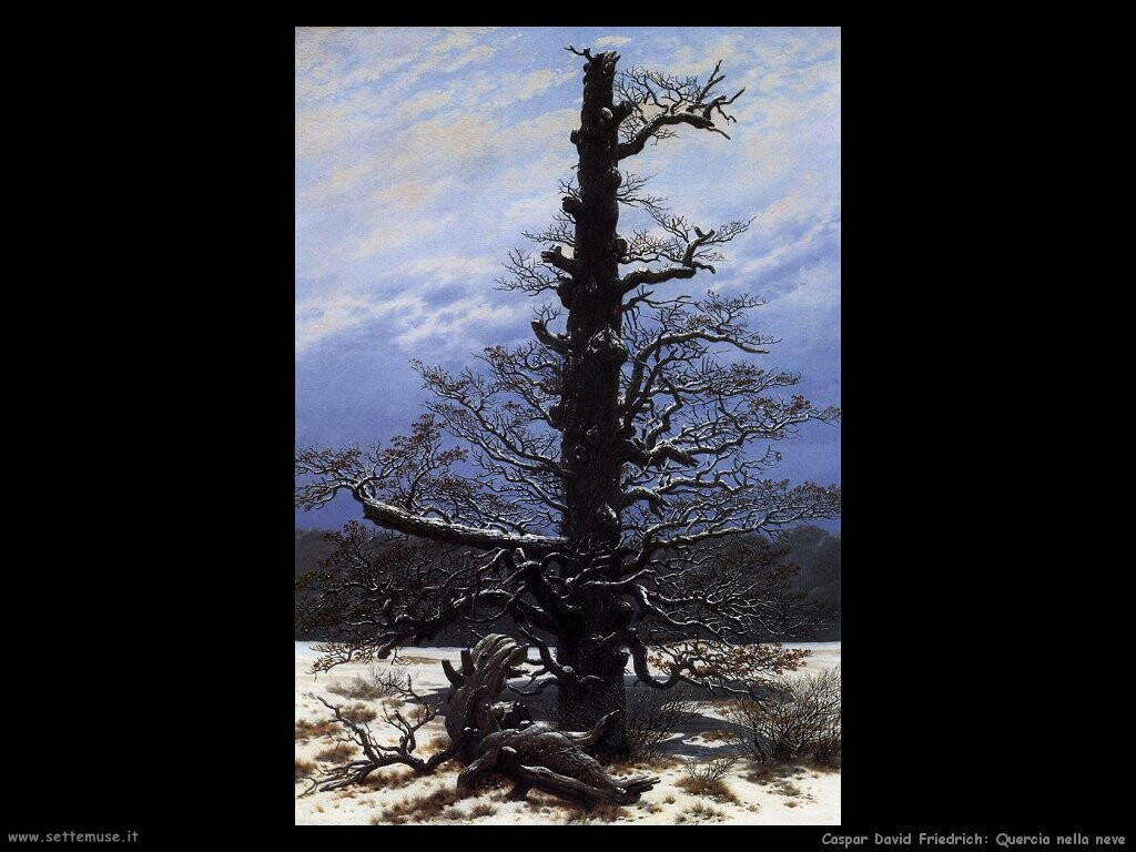 caspar david friedrich La quercia nella neve