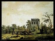 caspar david friedrich Paesaggio con padiglione