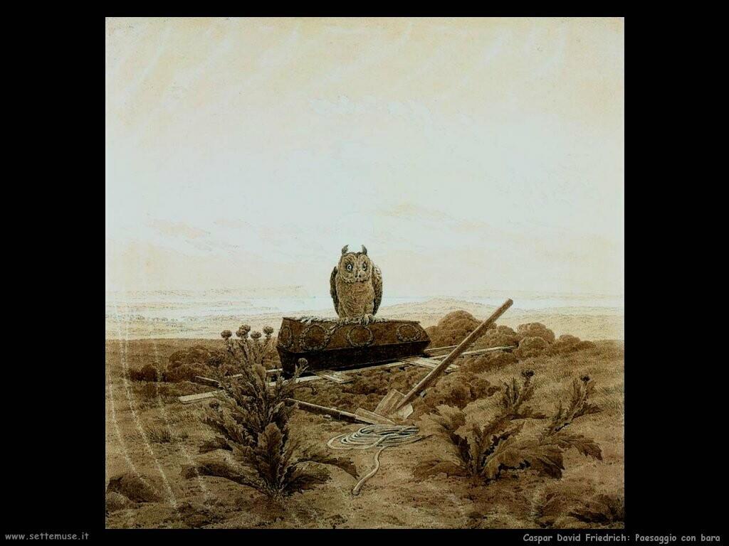 caspar david friedrich Paesaggio con tomba