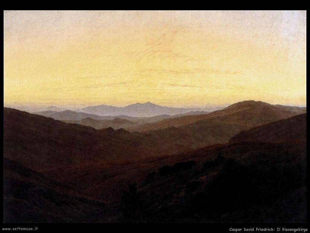 caspar david friedrich Il Riesengebirge