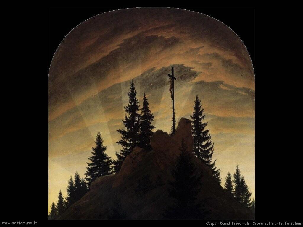caspar david friedrich Croce sulle montagne Tetschen