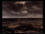 caspar david friedrich Spiaggia con naufragio al chiaro di luna