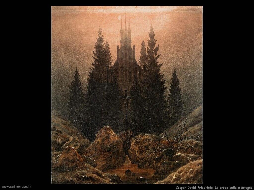 caspar david friedrich  Croce in montagna