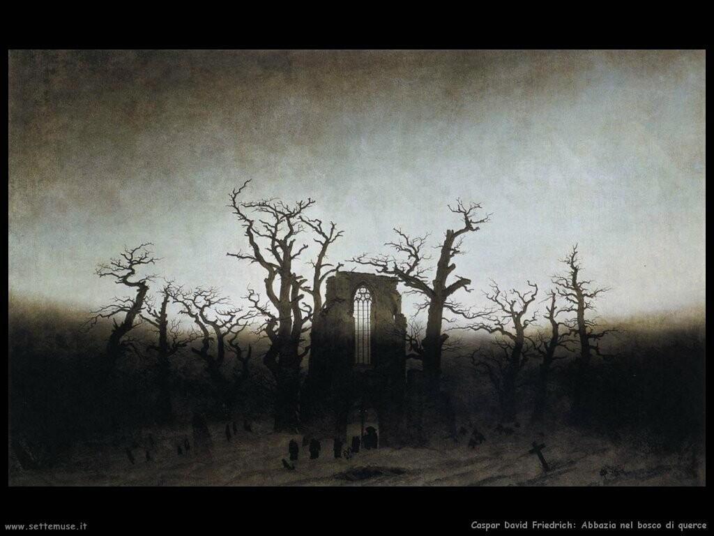 caspar david friedrich Abbazia nel querceto