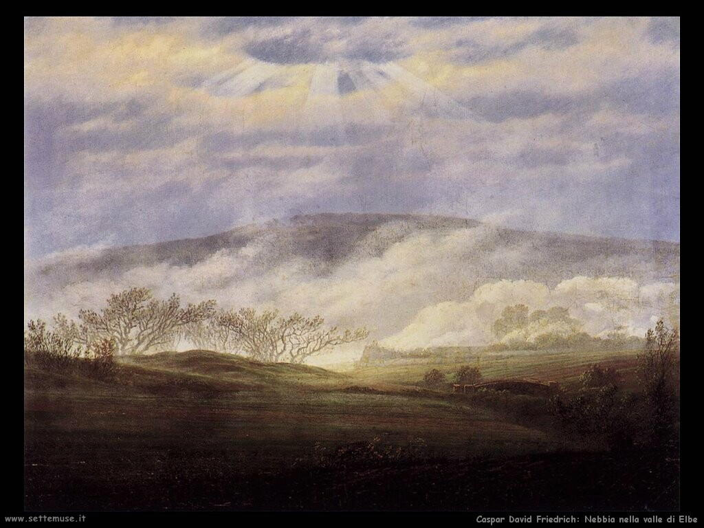 caspar david friedrich Nebbia nella valle di Elbe