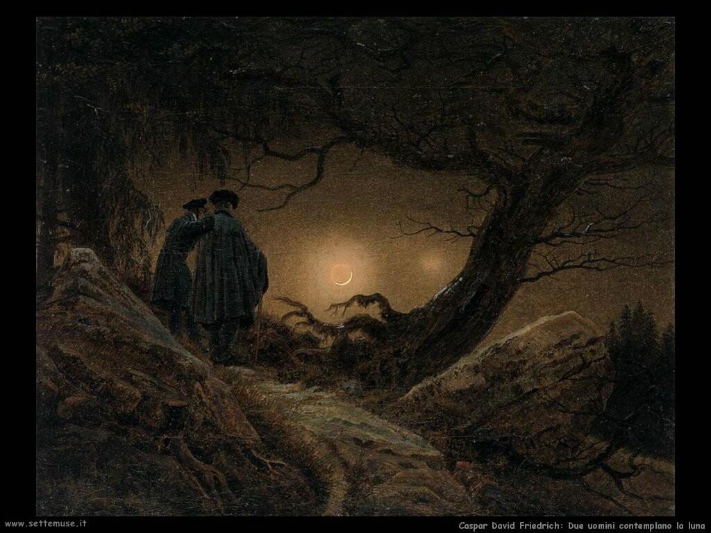 caspar david friedrich Due uomini contemplano la luna