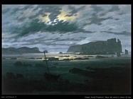caspar david friedrich Il mare del nord al chiaro di luna