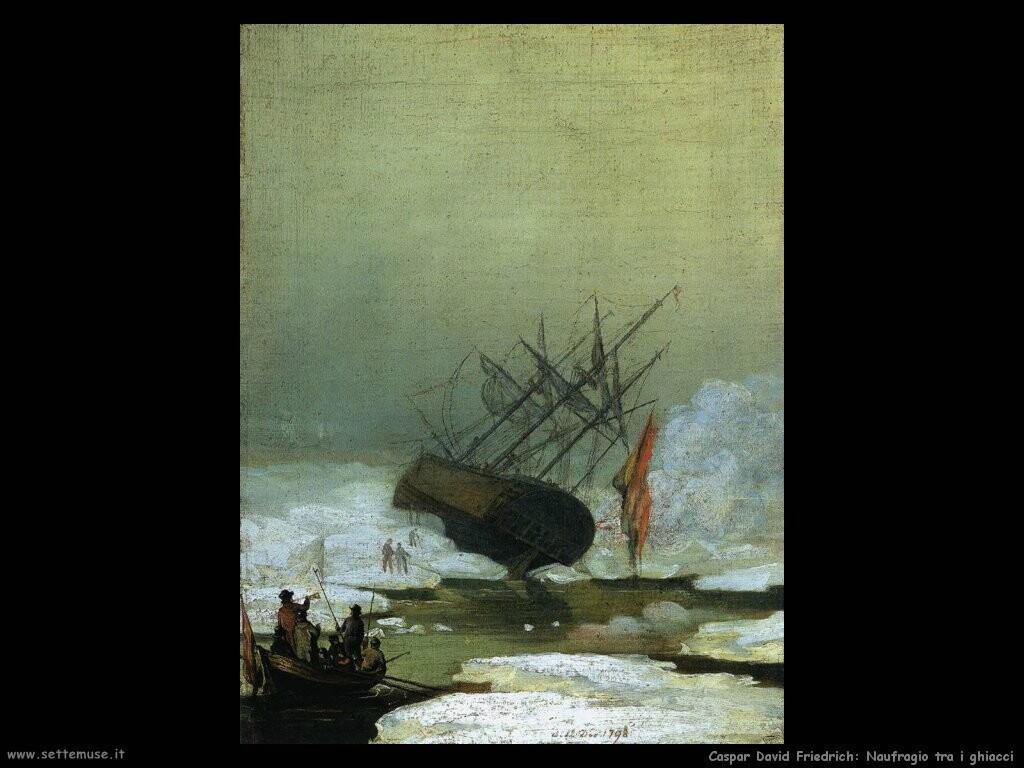 caspar david friedrich Naufragio nel mare dei ghiacci