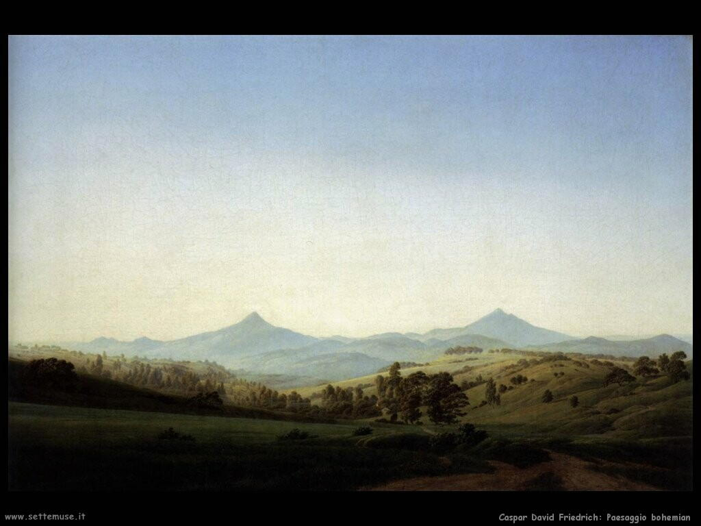 caspar david friedrich Paesaggio bohemian
