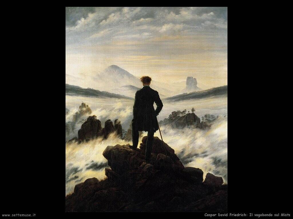 caspar david friedrich  Il vagabondo sul Mist